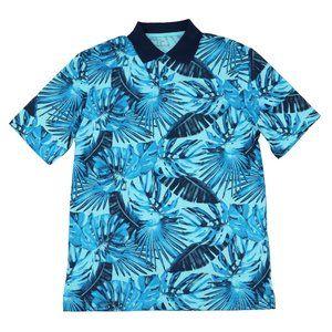 Greg Norman Tropical Leaves Golf Polo Shirt